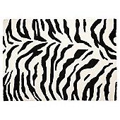 Zanizibar Rug Zebra Print 160 x 230cm, Black/White