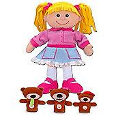 Fiesta Crafts Goldilocks Hand and Finger Puppet Set