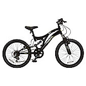 "Muddyfox Download 20"" Boys Dual Suspension Mountain Bike"