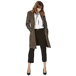 F&F Leopard Print Boyfriend Coat 10 Brown