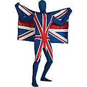 Second Skin Union Jack - Adult Costume Size: 42-44