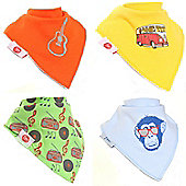 Zippy Retro Cool Bandana Dribble Bibs, 4 pack, one size