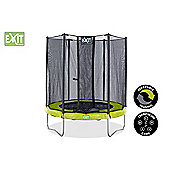 Twist 8ft Trampoline, Green & Grey