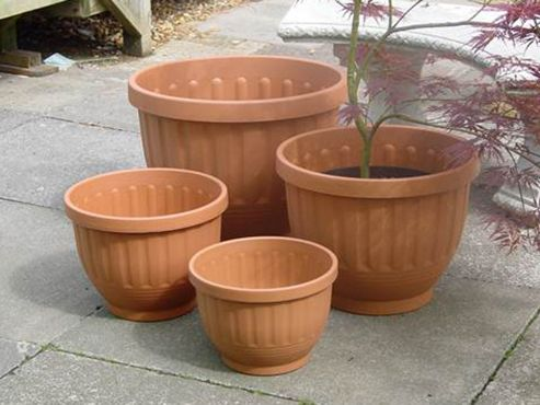 buy b line h183 etruscan planter terracotta 47cm from our. Black Bedroom Furniture Sets. Home Design Ideas