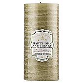 Botanicals Rustic Pillar Candle Large Hawthorn & Honey