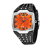 Police Beast Mens Studded Leather Orange Watch - 13634JS-17