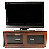 Optimum Warm Oak TV Cabinet with Remote Friendly Glass