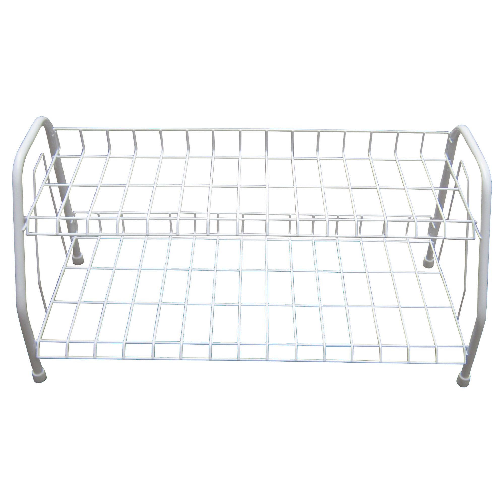 Tesco 2 Tier shoe rack White