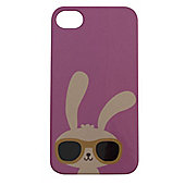 Tortoise™ Hard Protective Case, iPhone 4/4S. Pink with Rabbit Design