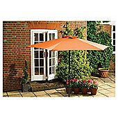 Seville Garden Aluminium Parasol 2m -  Burnt Orange.