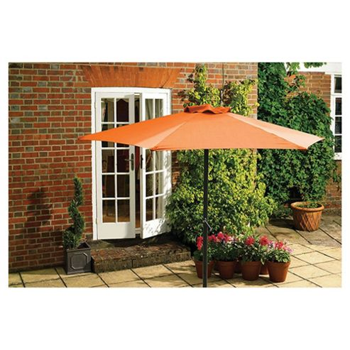 Seville Garden Aluminium Parasol 2m -  Burnt Orange