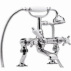 "Traditional 3/4"" Cranked Bath Shower Mixer"