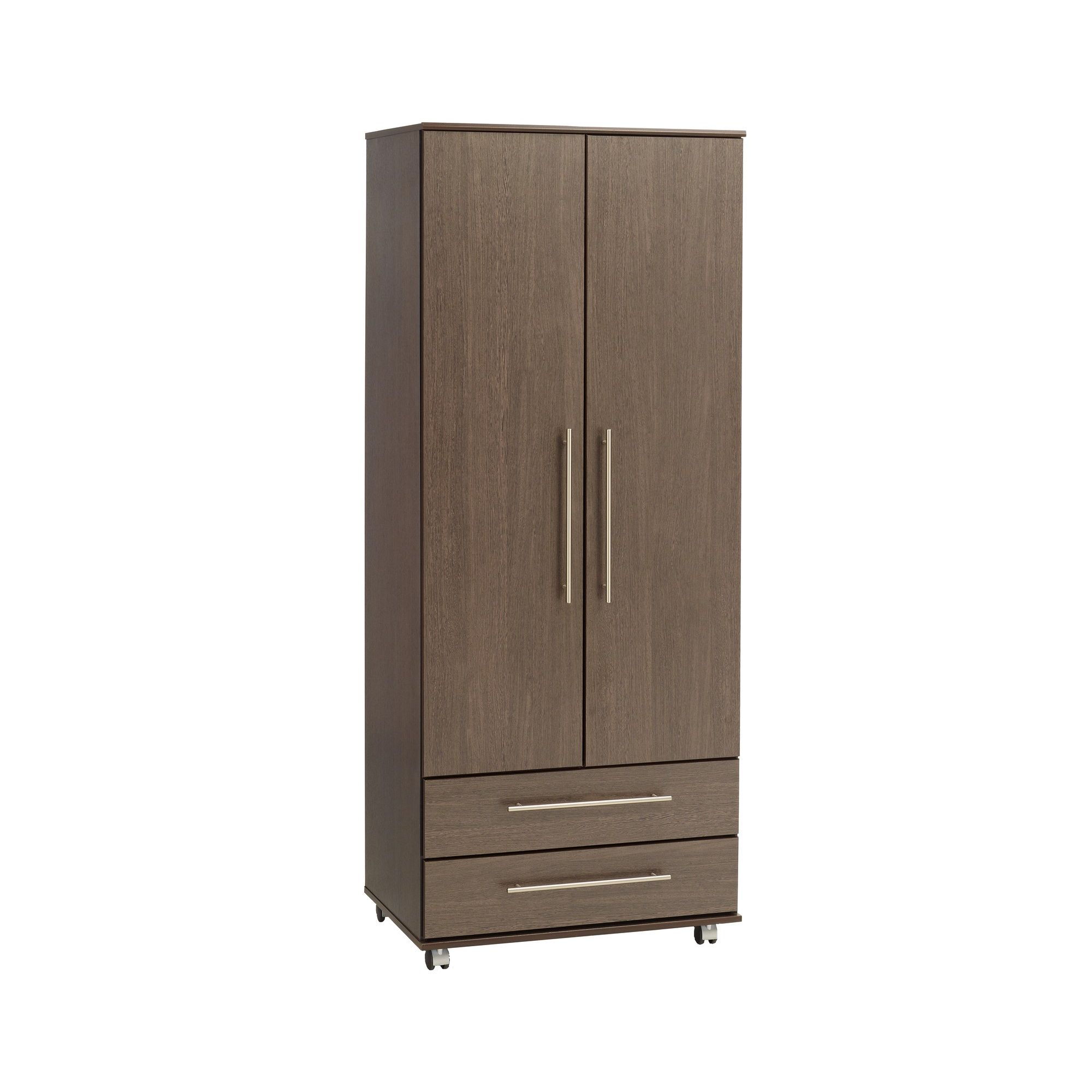 Ideal Furniture New York Combi Wardrobe - Gloss Black at Tesco Direct