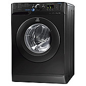 Indesit Innex Washing Machine,  XWA81252XK, 8KG Load, Black