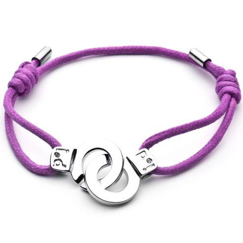 Cuffs of Love Cord Bracelet - Purple Small
