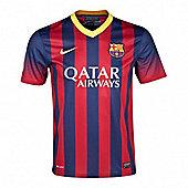 2013-14 Barcelona Home Nike Football Shirt (Kids) - Red