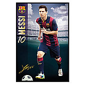 Barcelona Football Club Gloss Black Framed Lionel Messi BFC Poster
