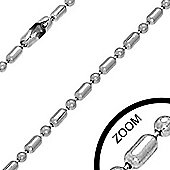Urban Male Stainless Steel 2mm Military Link Chain 16in Length