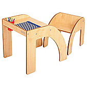 Fun Station Solo Toddler Table & Chair Set In Maple
