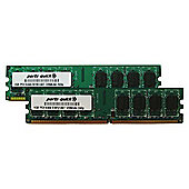 Crucial 4GB (2x2GB) Memory Kit PC2-5300 667MHz DDR2 240-pin DIMM CL5 Fully Buffered ECC