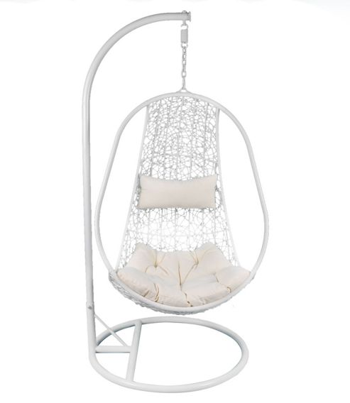 Buy Bentley Garden White Rattan Swing Chair from our