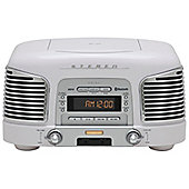 TEAC SLD930 CD/FM/AM Retro Hifi System with Bluetooth (White)