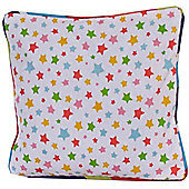 Homescapes Cotton Multi Colour Stars Scatter Cushion, 30 x 30 cm