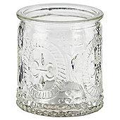Tesco Decorative Clear Glass Tealight Holder