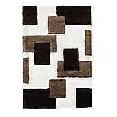 Oriental Carpets & Rugs Fashion Carving 7646 Ivory/Brown Rug - 120cm x 170cm