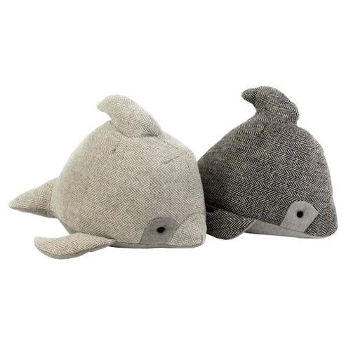 Nautical dolphin door stop