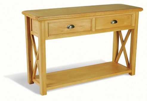 Oceans Apart Victoria Oak Consol Table