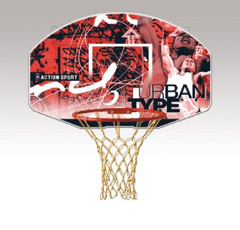 Sure Shot Urban Attack basketball backboard and ring