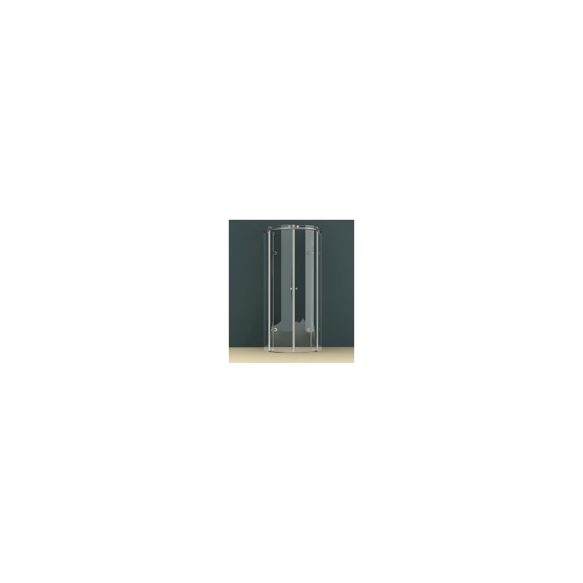 Vessini K Series D-Shape Wet Room Shower Door, 1000mm Wide, excluding Tray, 10mm Glass at Tesco Direct