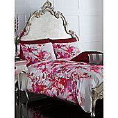 Pied A Terre Lily Floral Pillowcase Pair In Fuchsia