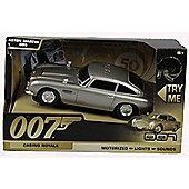 James Bond 007 50th Aston Martin DB5 - Motorised Light and Sound. - Figures