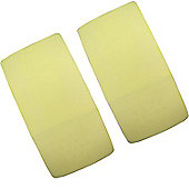 2x Cot Jersey Fitted Sheet 120cm x 60cm Lemon Yellow