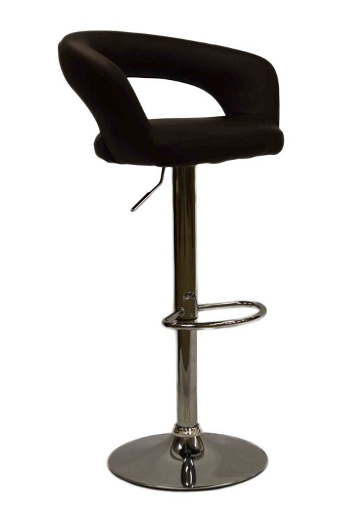 Mars Brown Faux Leather Bar Stool