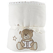 Tesco Applique Fleece Blanket, Cream