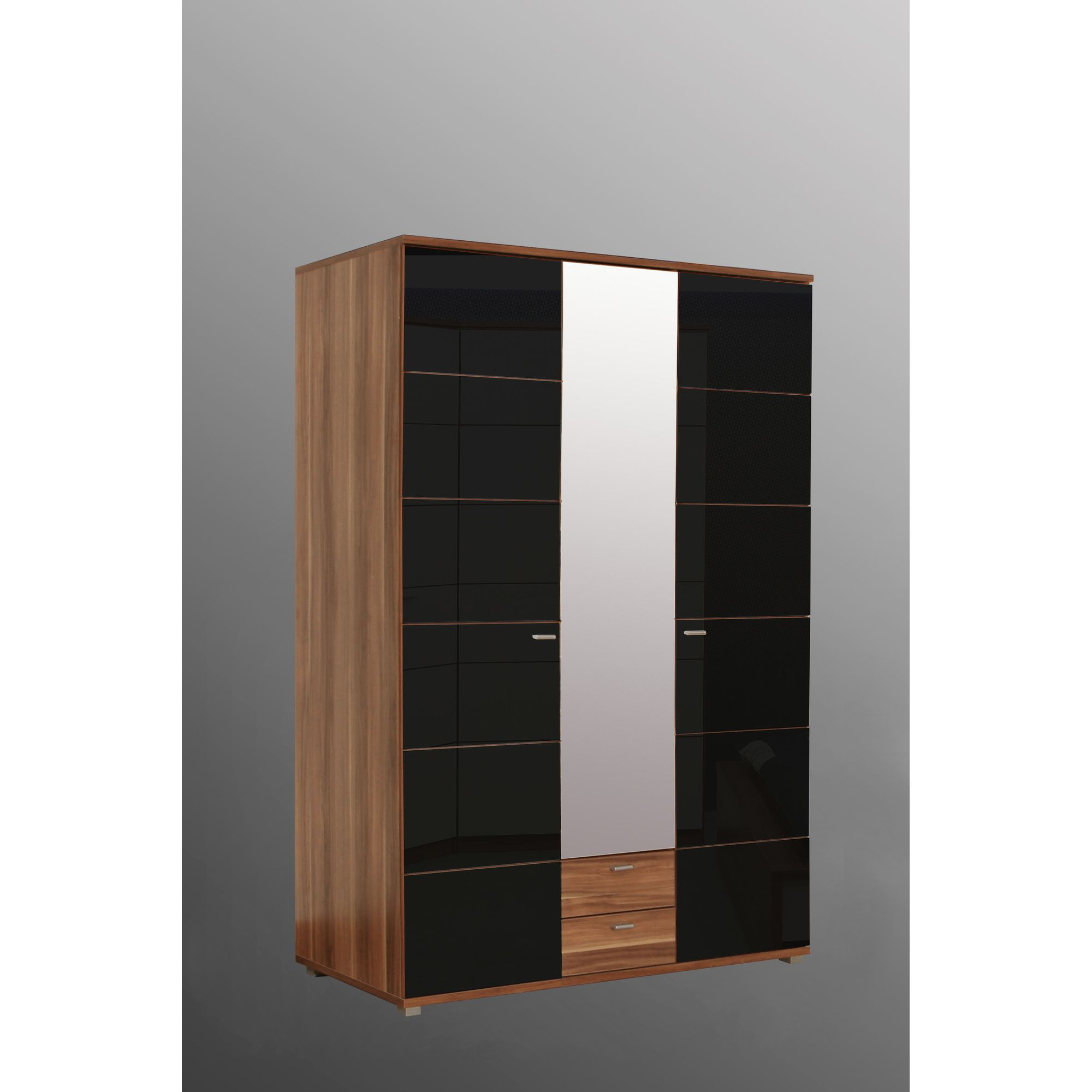 Amos Mann furniture Valencia 3 Door Wardrobe - Black at Tesco Direct