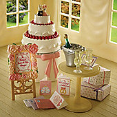 Sylvanian Families Wedding Cake And Accessories