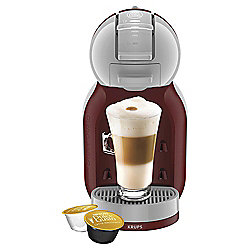 NESCAFE Dolce Gusto Mini Me AutomaticCoffee Machine by Krups, Red & Grey