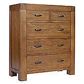 Ametis Santana Rustic Oak Chest of Drawers