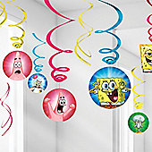 Spongebob Hanging Decorations - 60cm Hanging Swirls