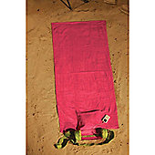 MP3 Beach Towel With Speakers & Pillow
