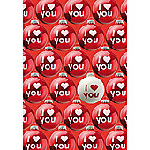 I Love You Christmas Baubles Card