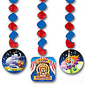 Big Top Circus Party Dangling Cutouts (3pk)