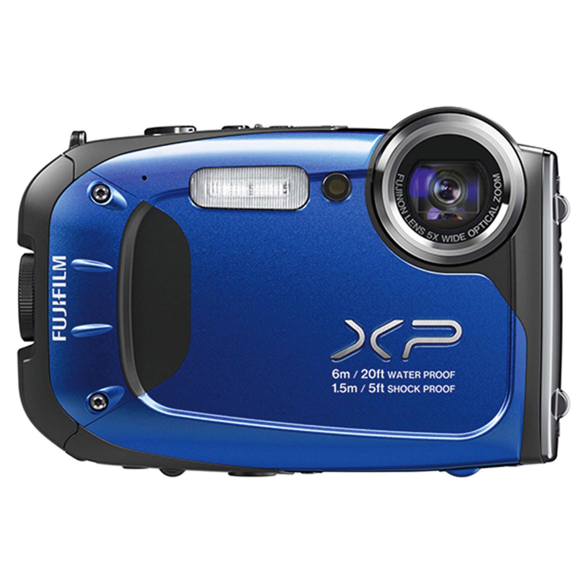 Fujifilm XP60 Tough Digital Camera, Blue, 16MP, 5x Optical Zoom, 2.7 inch LCD Screen