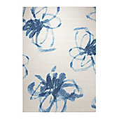 Esprit Graphic Flower Woven Rug - 80 cm x 150 cm (2 ft 7 in x 4 ft 11 in)