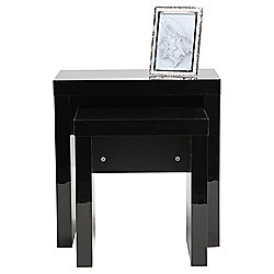 Milan High Gloss Nest of Tables, Black