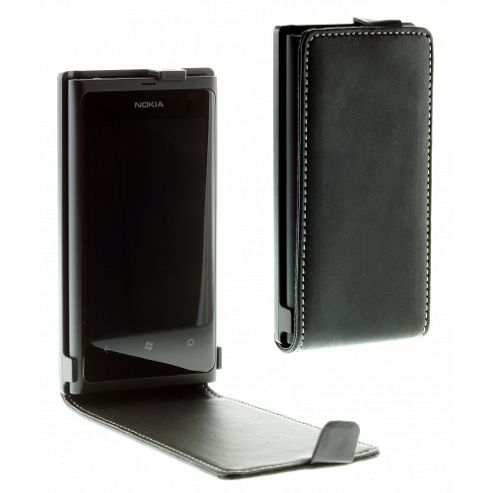Lumia 800 luxury alpha leather flip case